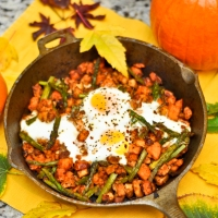 Sunday Brunch: Spicy Sweet Potato & Chicken Hash